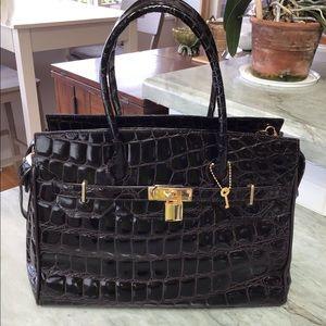 Nardelli Vintage Italian Leather Handbag Satchel